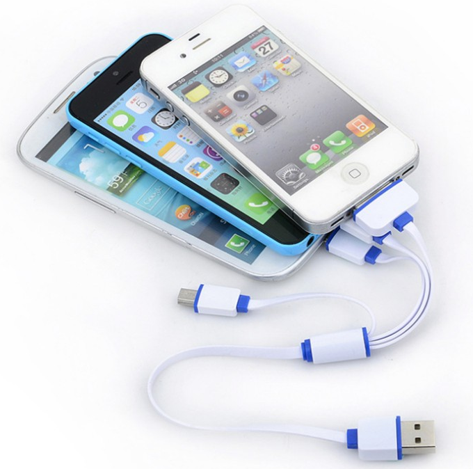 Multi cabo de carregamento principal do usb 4 para Iphone/Samsung/Andriod